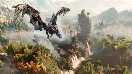 Horizon Zero Dawn is like Zelda on steroids... with robo-dinos, and tech weapons. Did I mention Robo-Dinos?